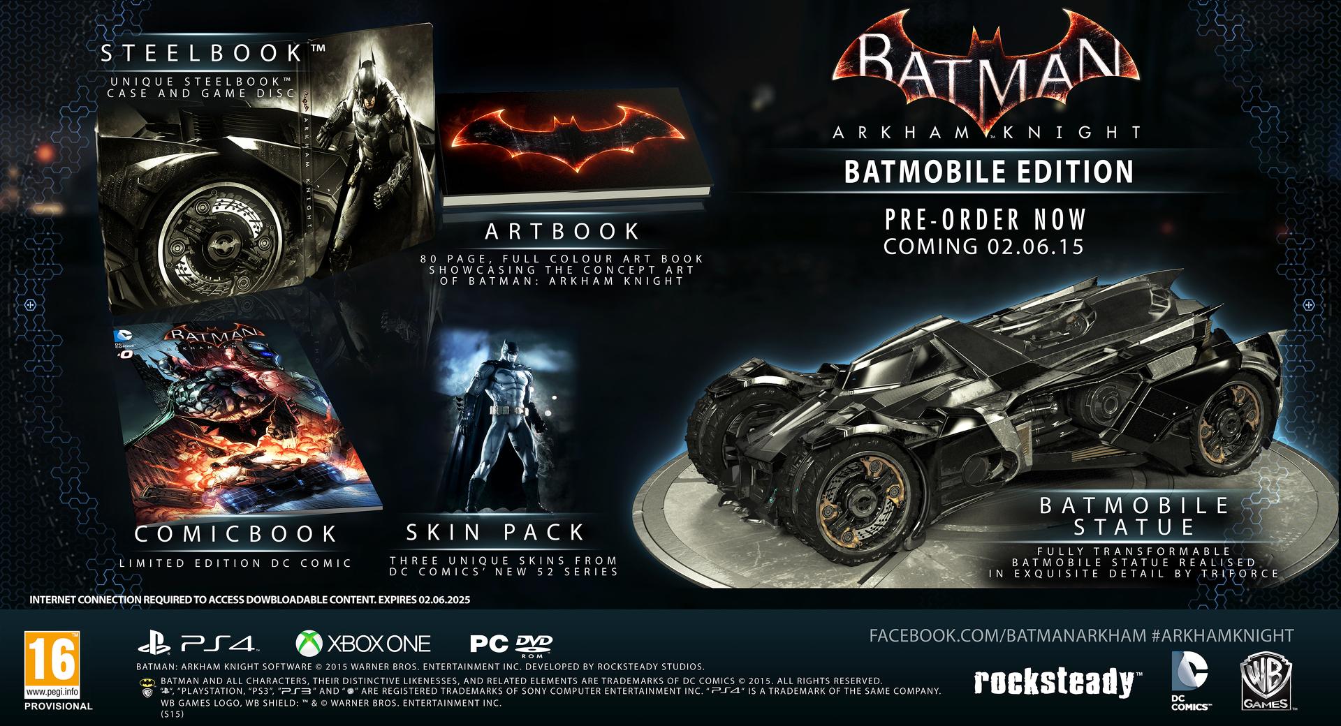 Špatná kvalita vyústila ve zrušení Batmobile edice Batman: Arkham Knight 100311