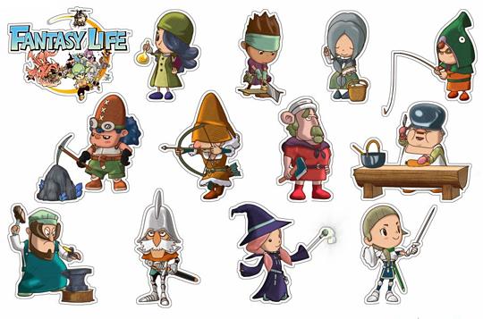 Sada roztomilých magnetek k Fantasy Life 100806