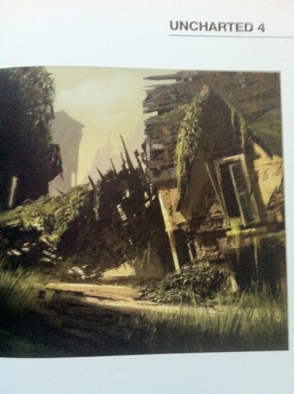 Rozpadající se budovy na artworcích z Uncharted 4 101053