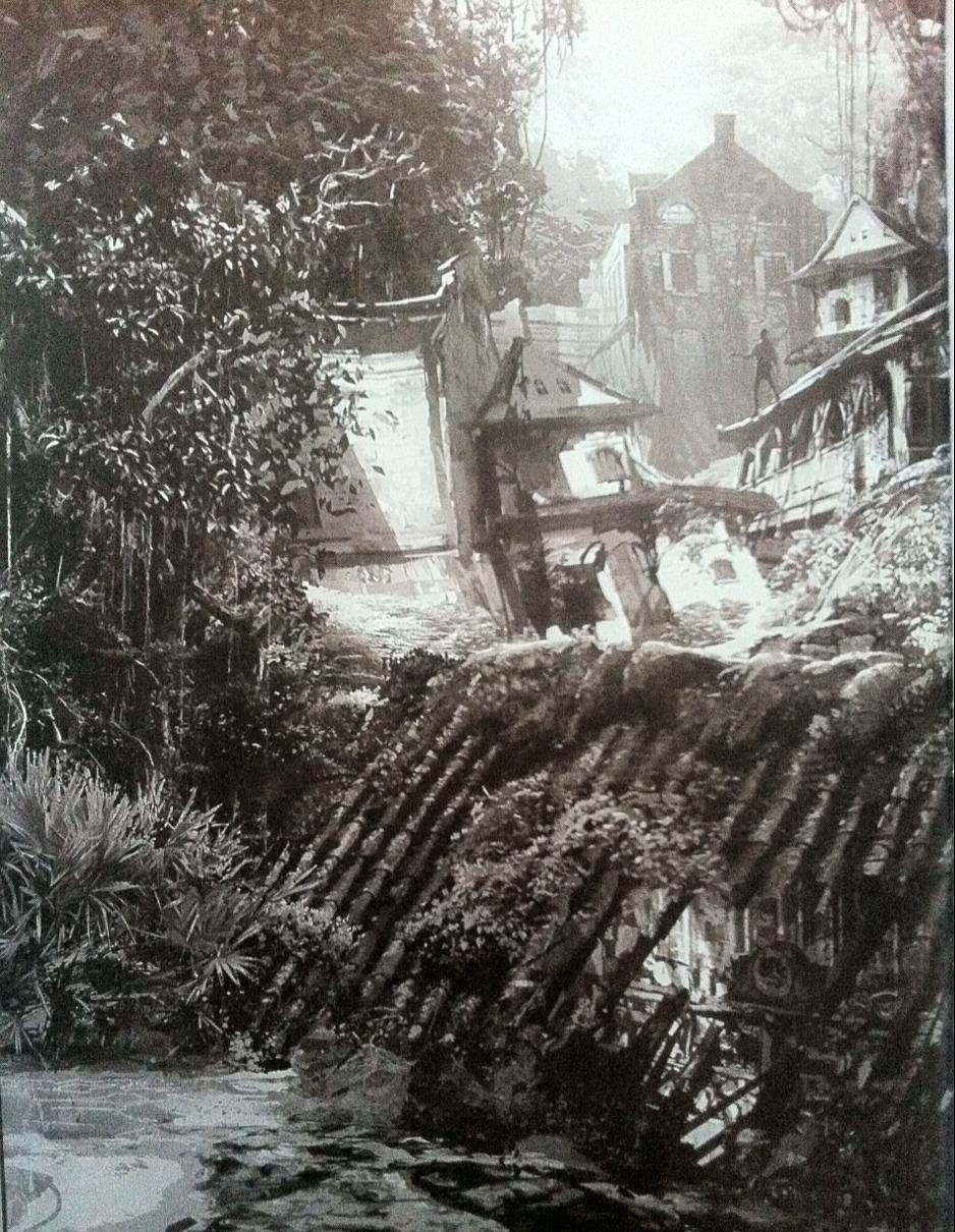 Rozpadající se budovy na artworcích z Uncharted 4 101054