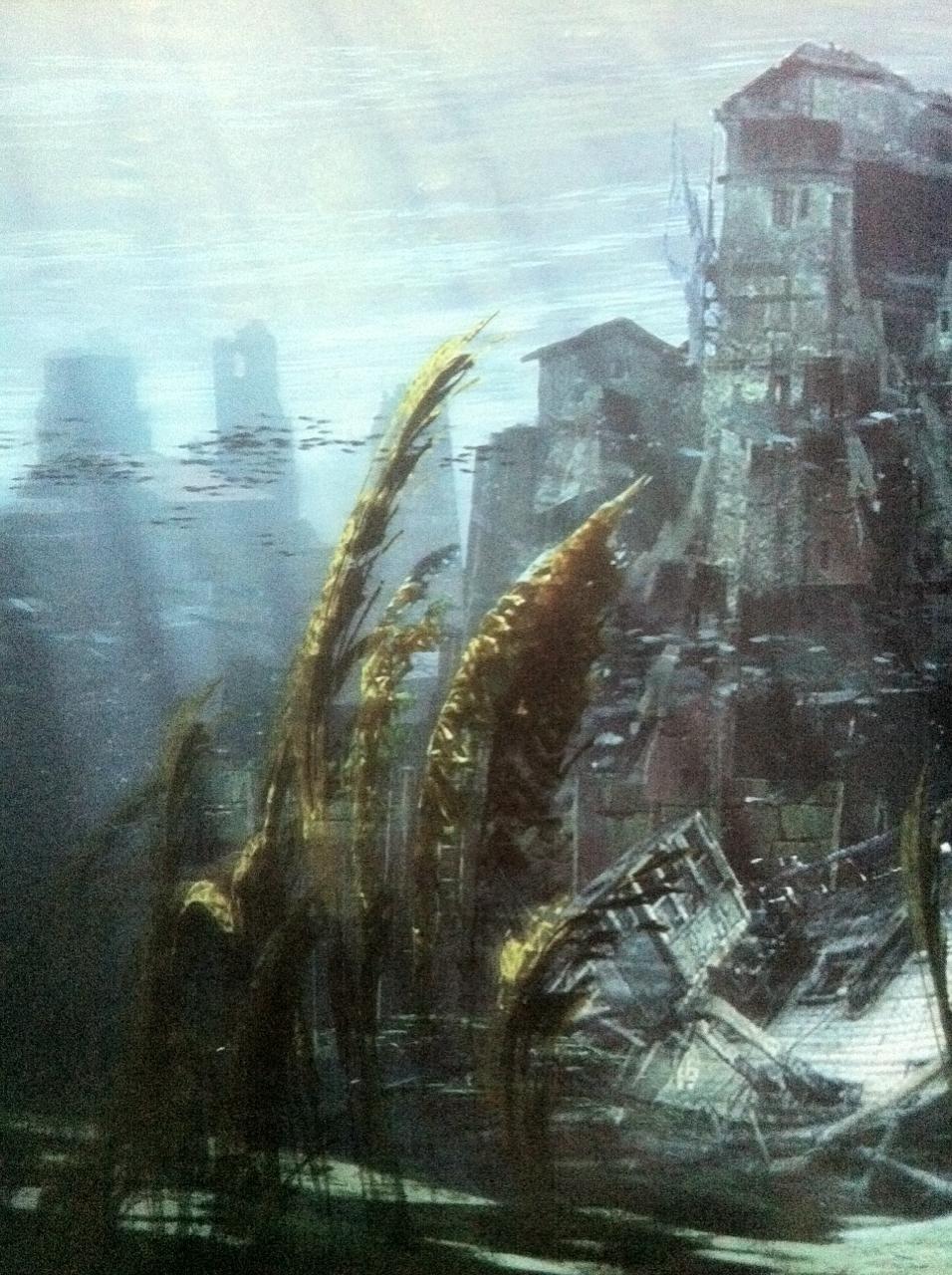 Rozpadající se budovy na artworcích z Uncharted 4 101055