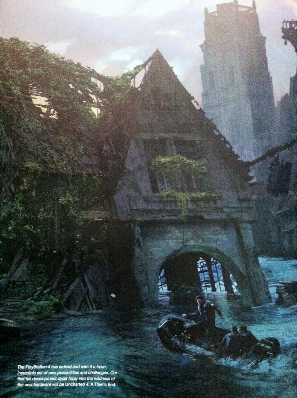 Rozpadající se budovy na artworcích z Uncharted 4 101058