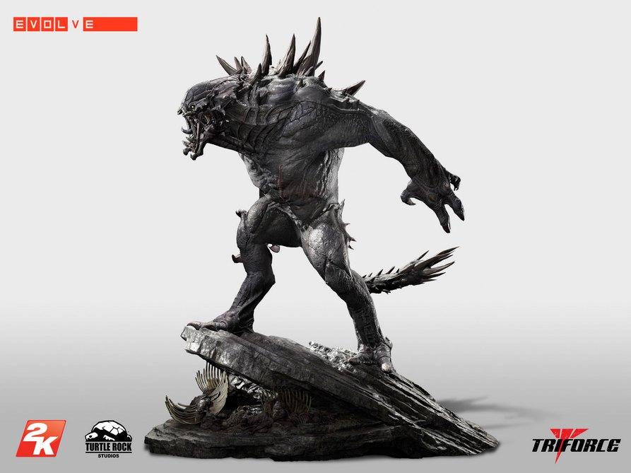 Unikátní soška Goliáše z Evolve za 16 tisíc korun 101175