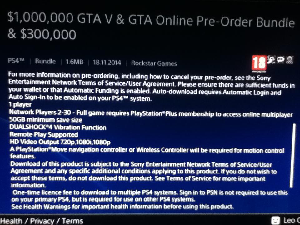 Grand Theft Auto V bude vyžadovat 50 GB na HDD 101237