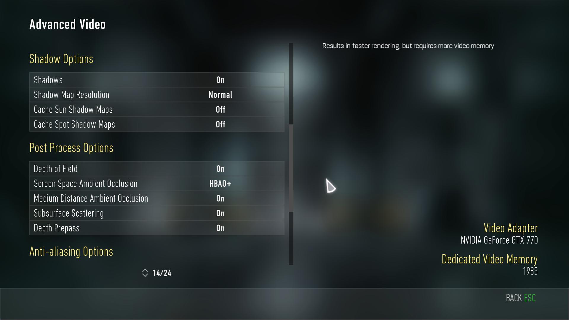 Nastavení grafiky, obrázky z PC verze a videa z nového Call of Duty 101886