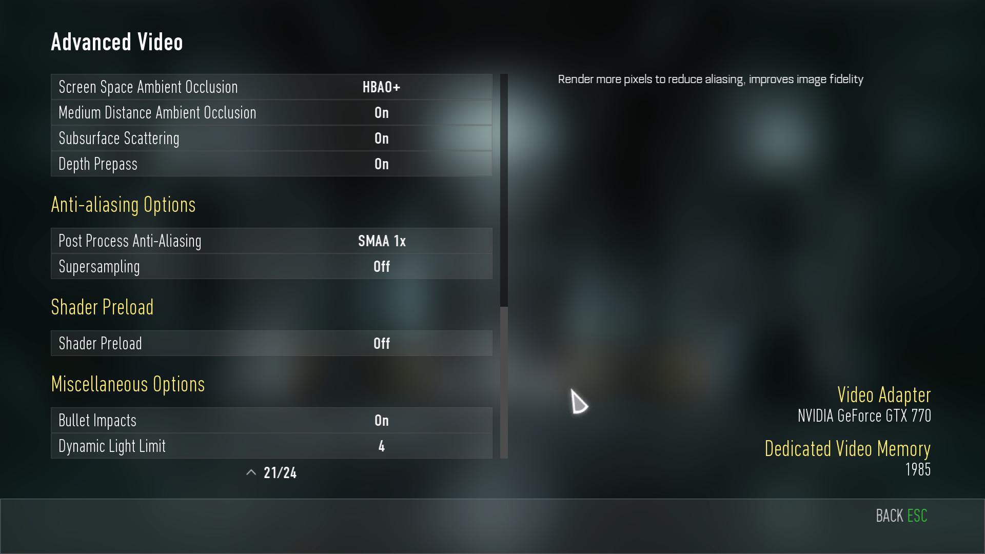 Nastavení grafiky, obrázky z PC verze a videa z nového Call of Duty 101887