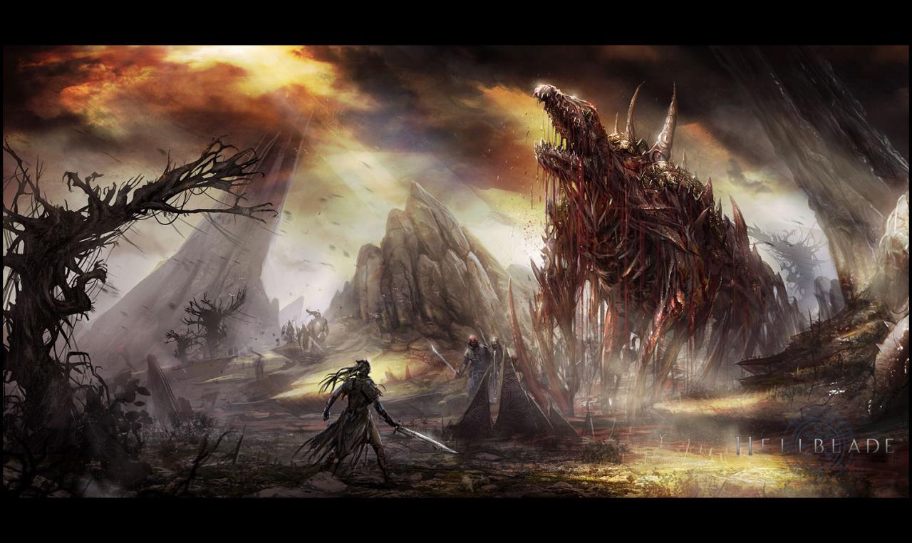 Trojice artworků z Hellblade 101960