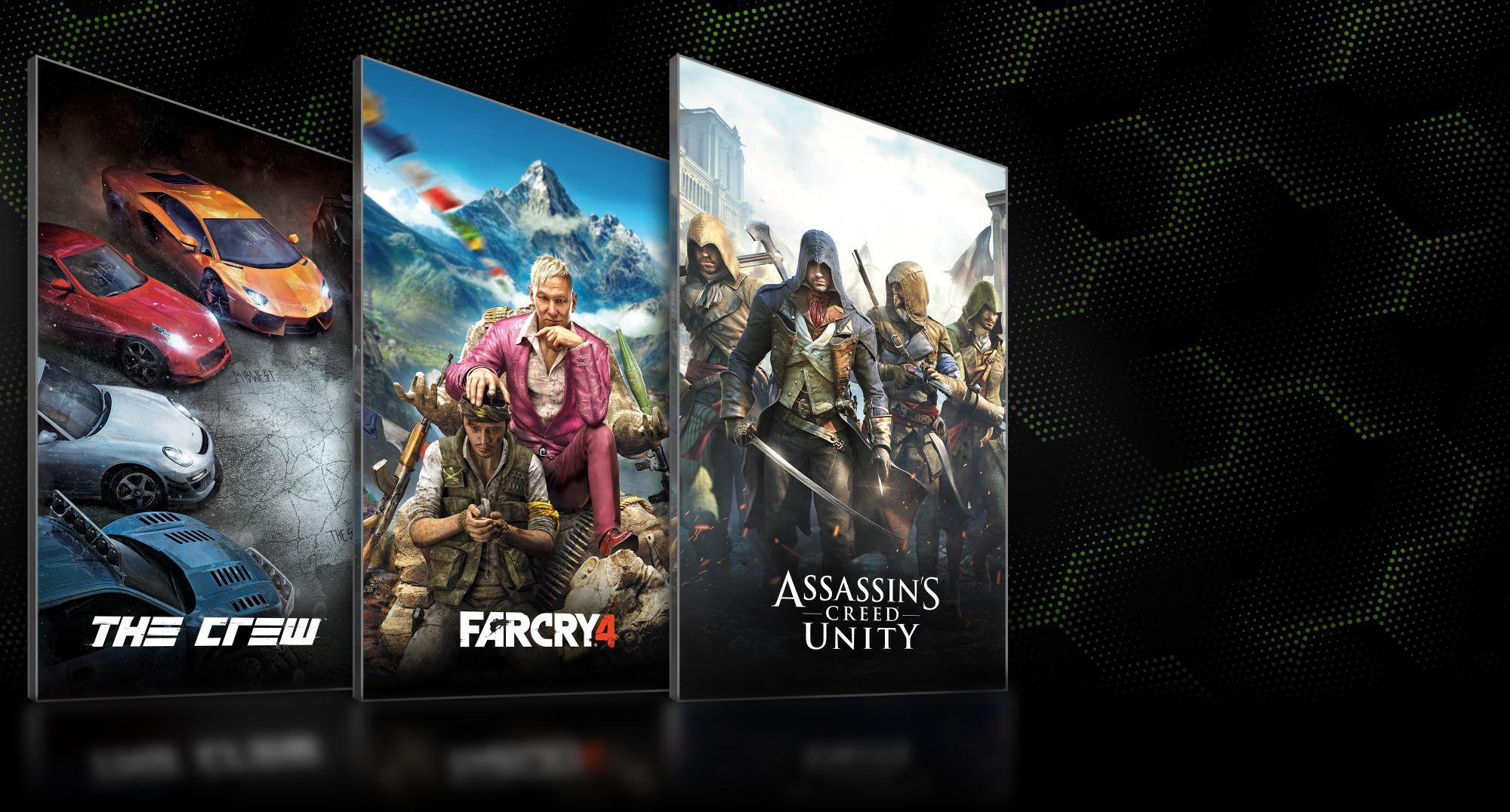 S novou grafickou kartou Nvidia získáte zdarma Assassin's Creed: Unity, Far Cry 4 nebo The Crew 102001