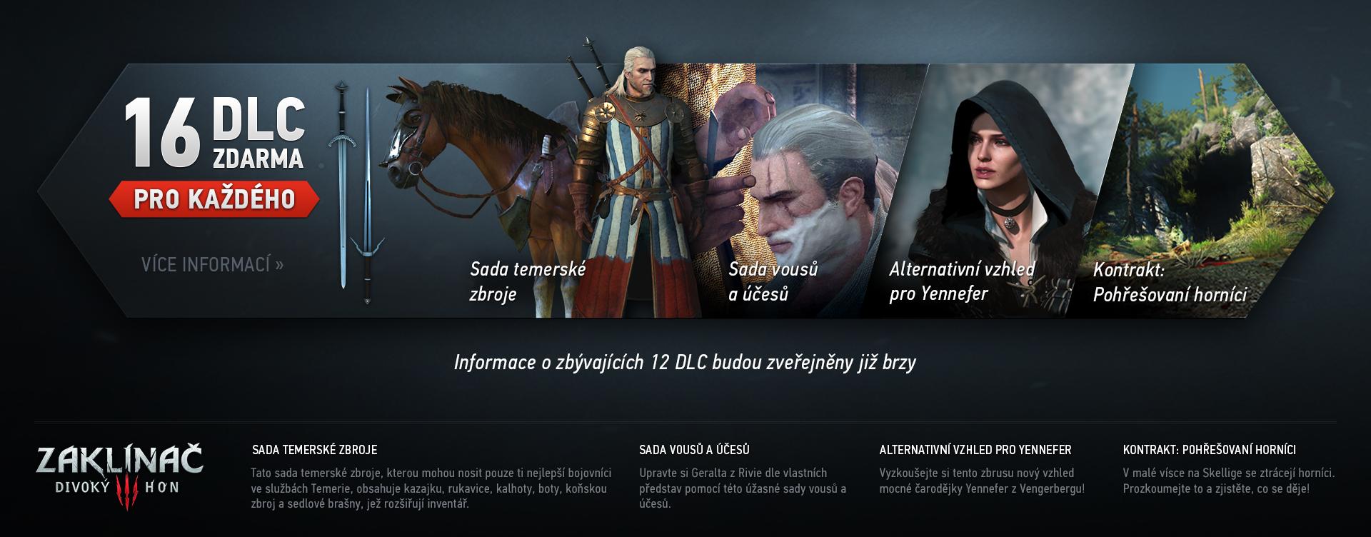Zaklínače 3 obohatí 16 bezplatných DLC 102098