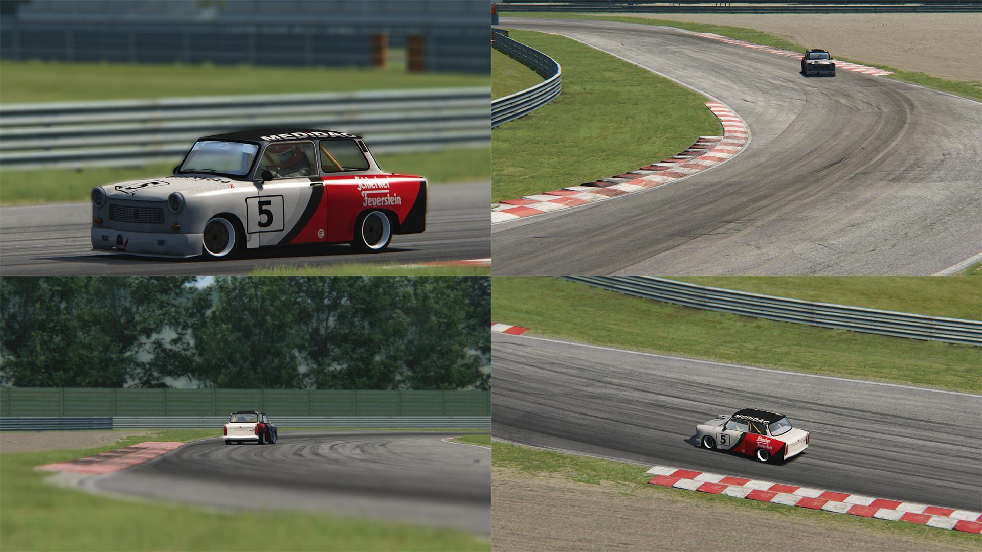 Závody trabantů v simulátoru Assetto Corsa 102620