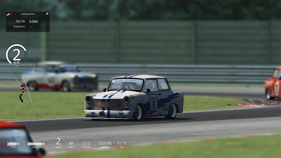 Závody trabantů v simulátoru Assetto Corsa 102621