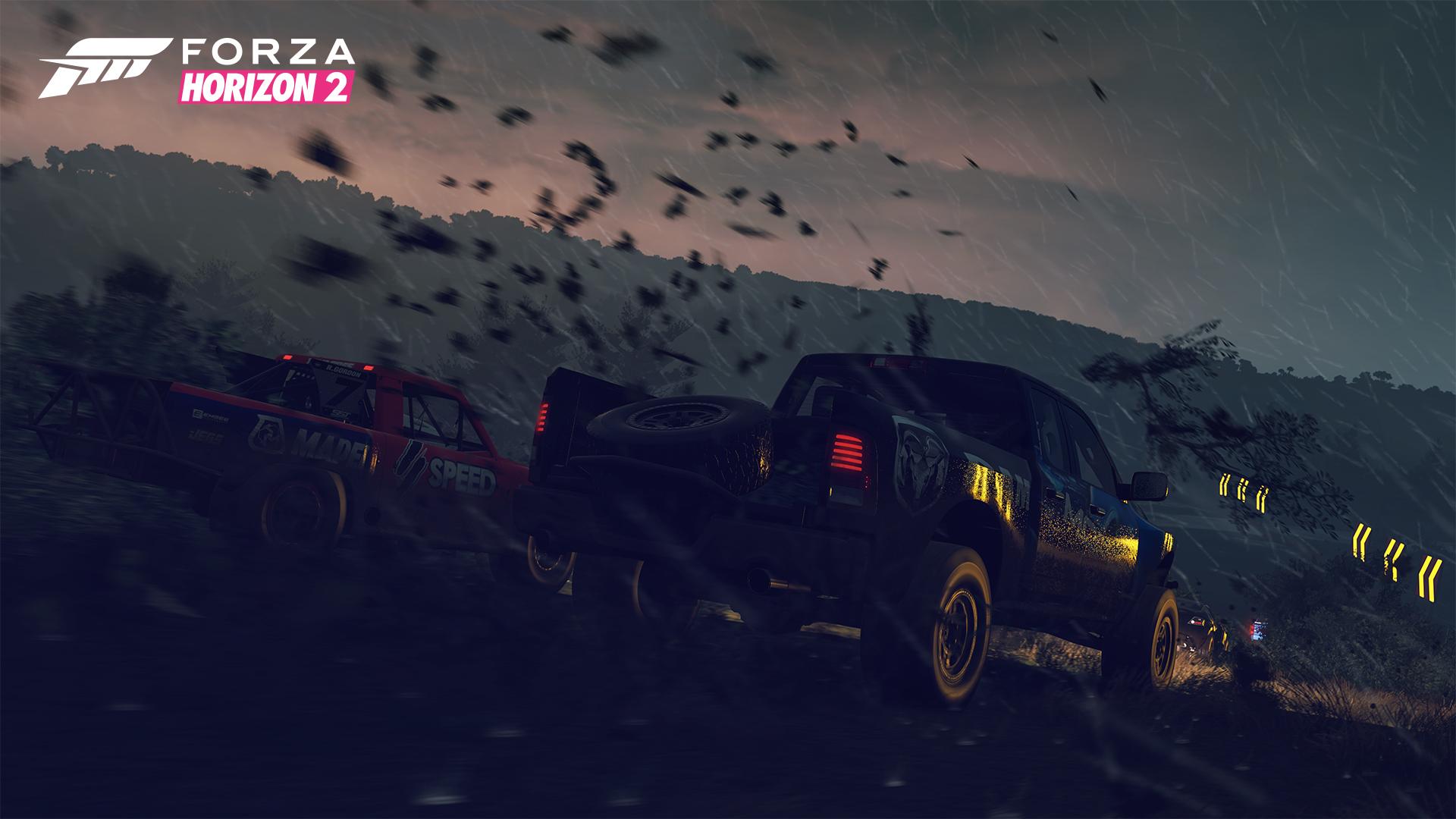 Forza Horizon 2: Storm Island - silný vítr, mlha a déšť 103662