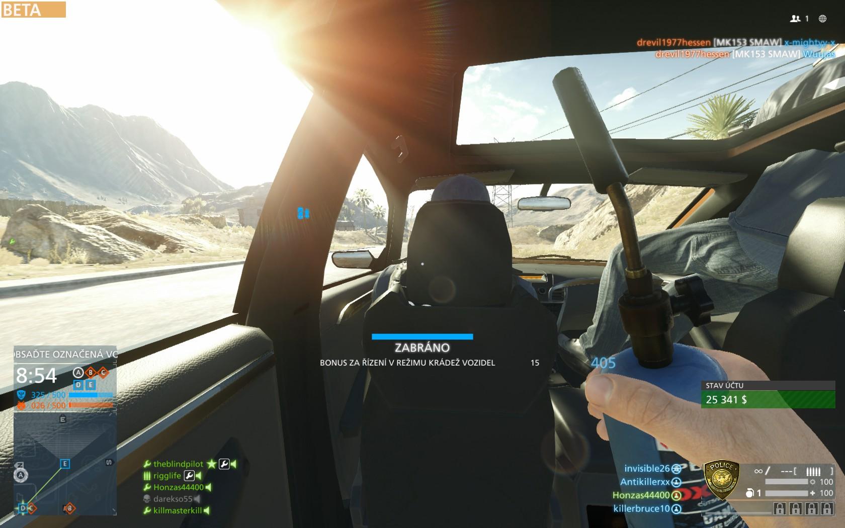 Dojmy z hraní otevřené bety Battlefield Hardline 105543