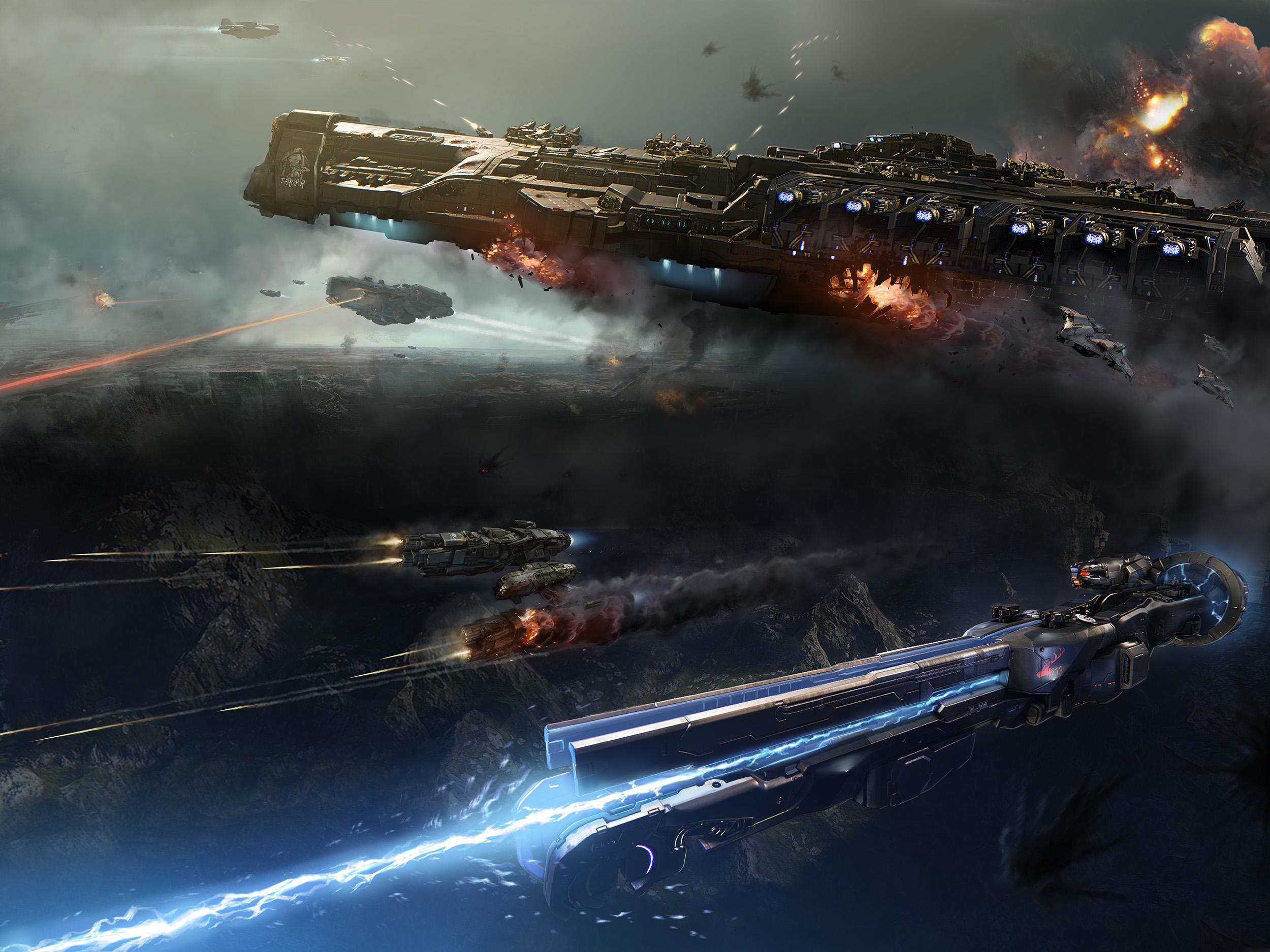 Lasery a výbuchy z taktické akce Dreadnought 106797