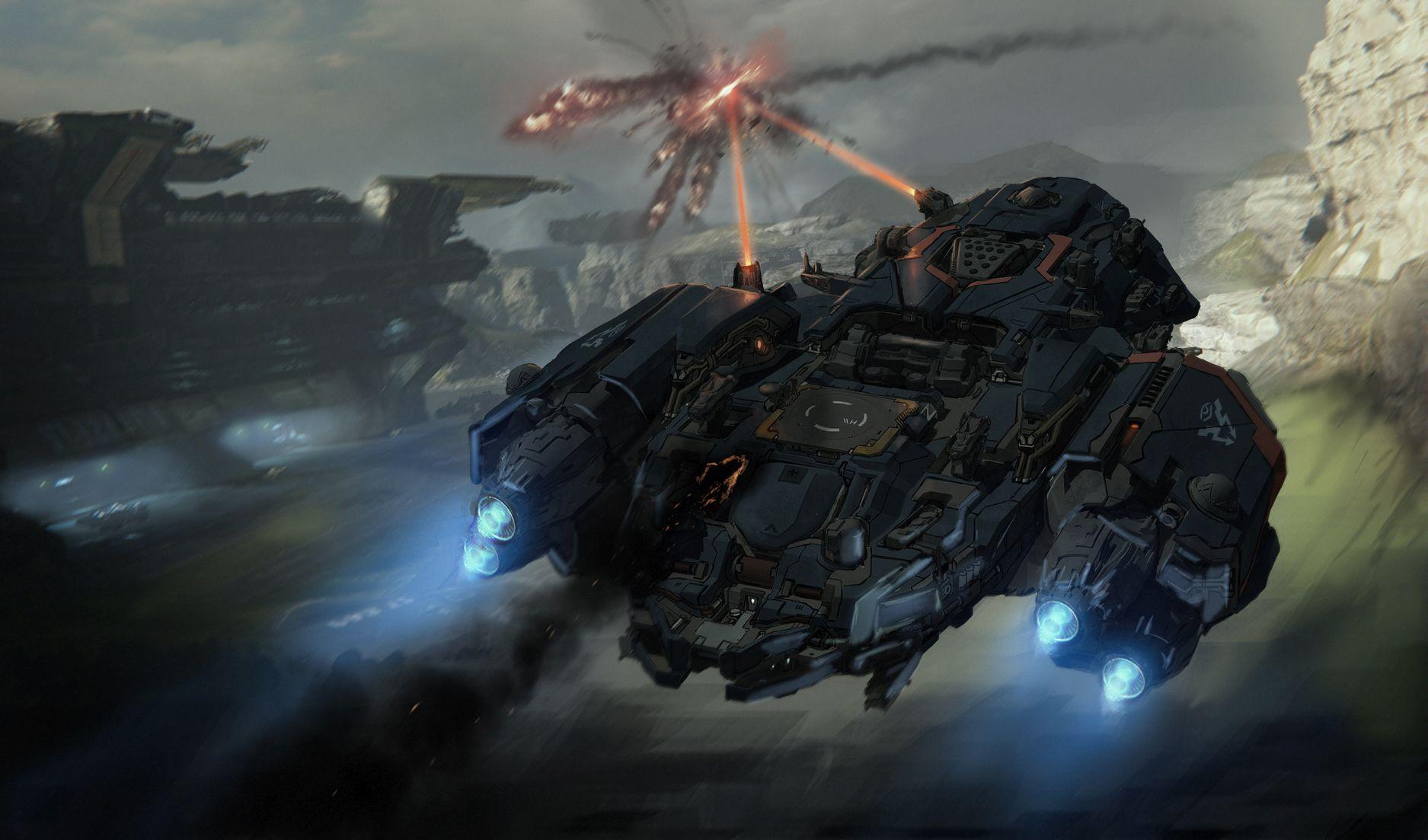 Lasery a výbuchy z taktické akce Dreadnought 106799