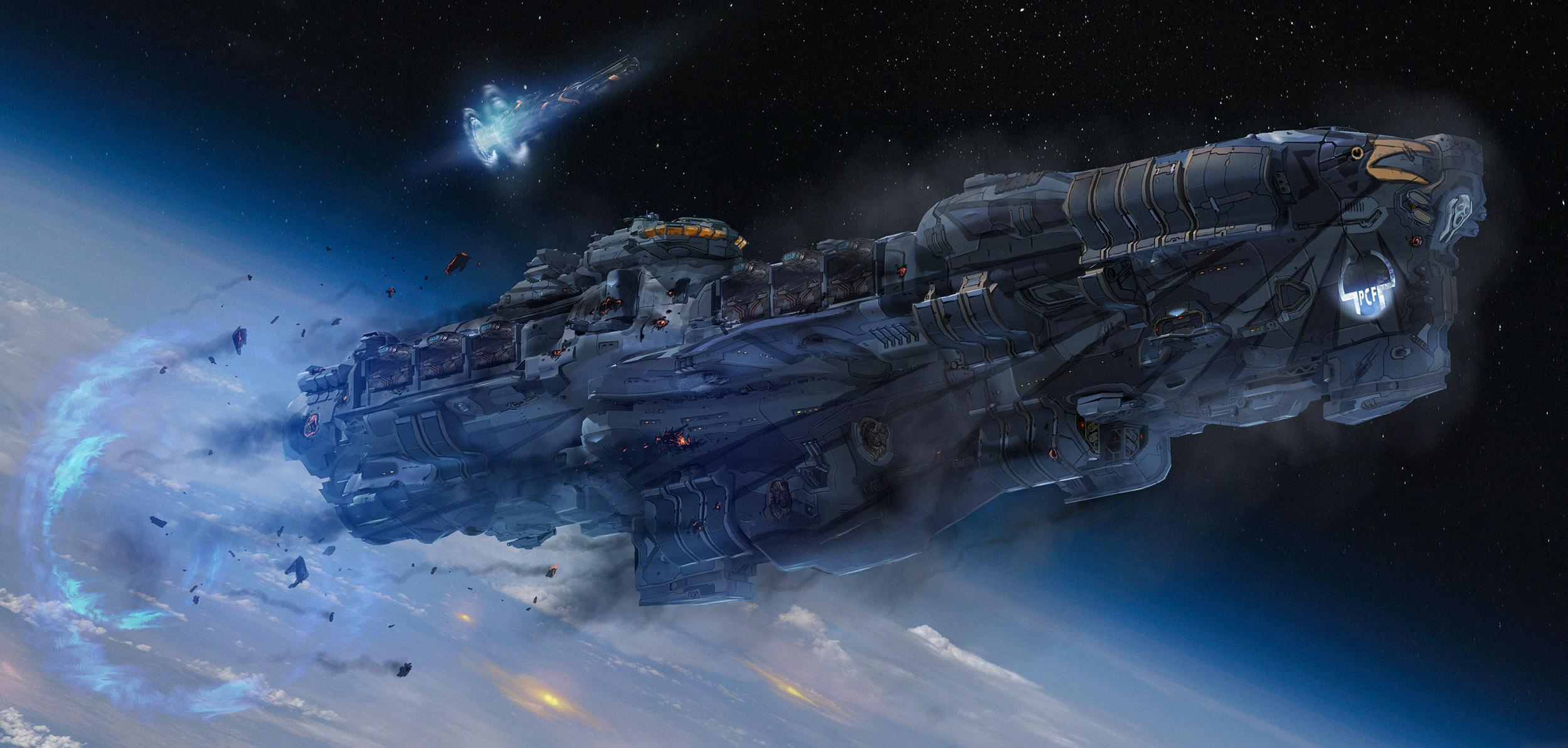 Lasery a výbuchy z taktické akce Dreadnought 106800