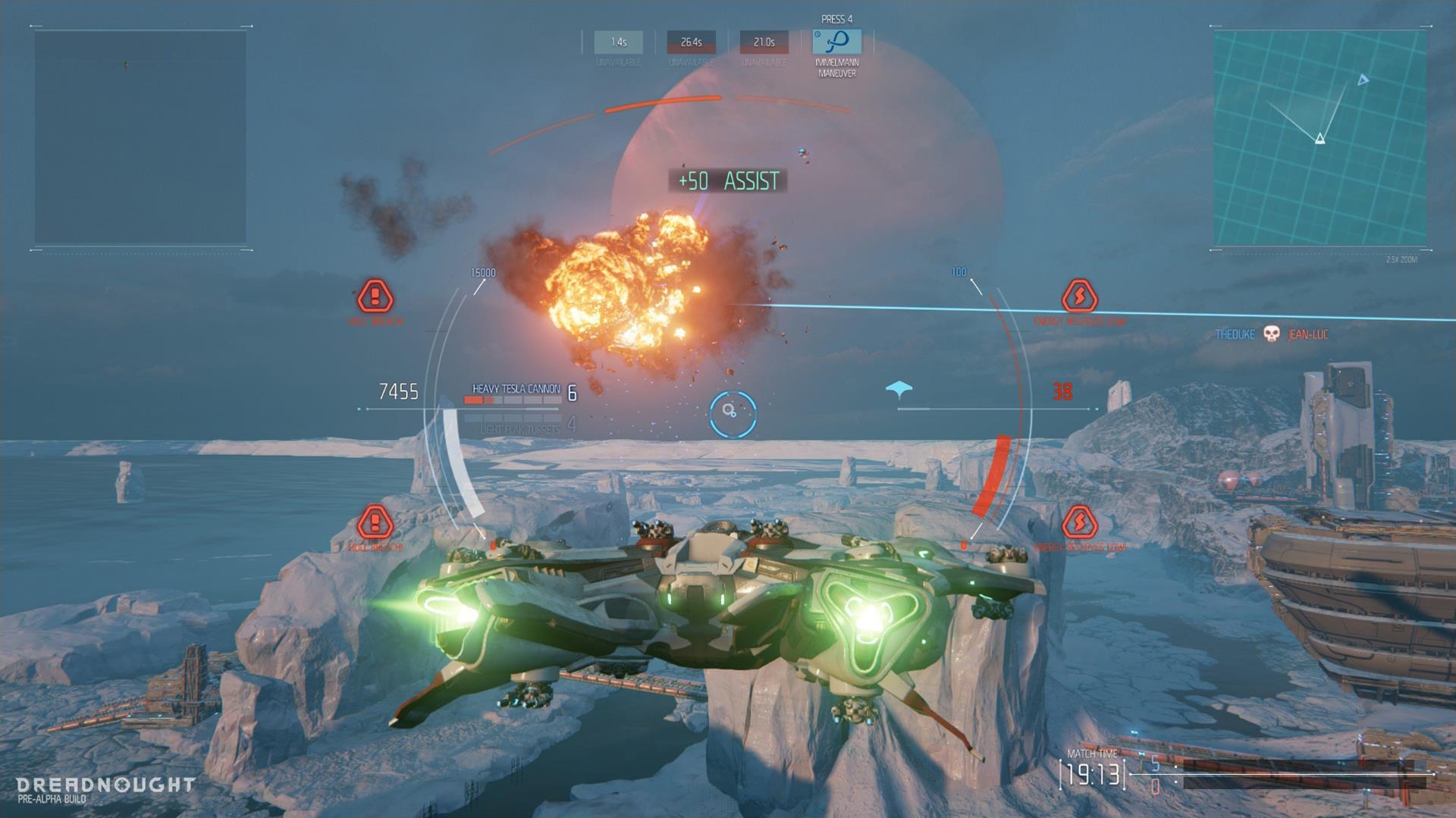 Lasery a výbuchy z taktické akce Dreadnought 106802