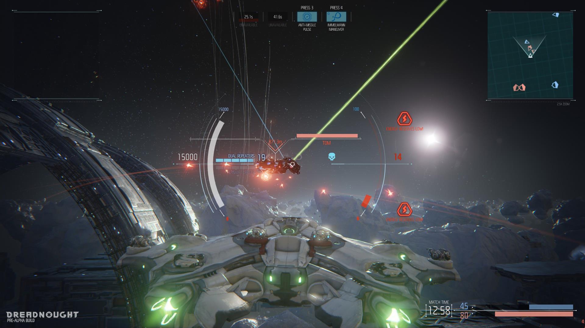 Lasery a výbuchy z taktické akce Dreadnought 106803