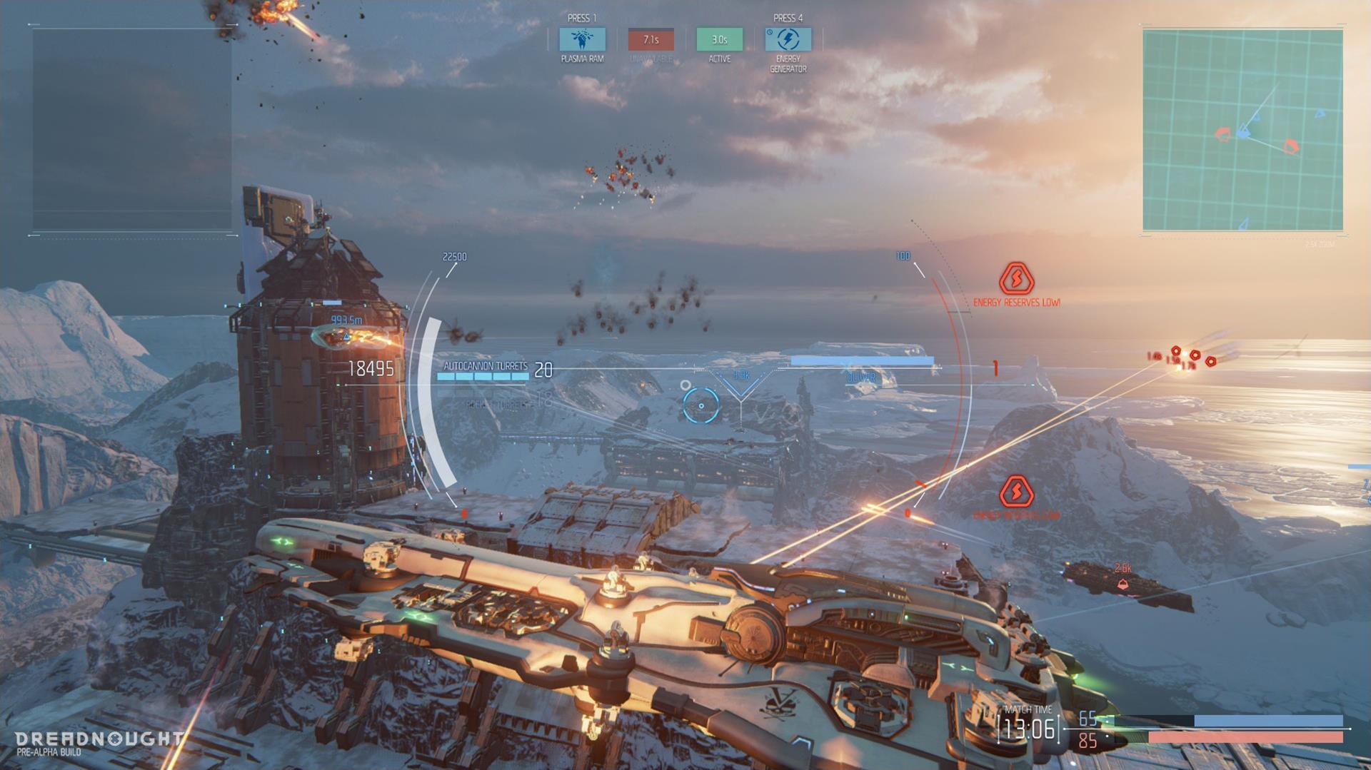 Lasery a výbuchy z taktické akce Dreadnought 106805