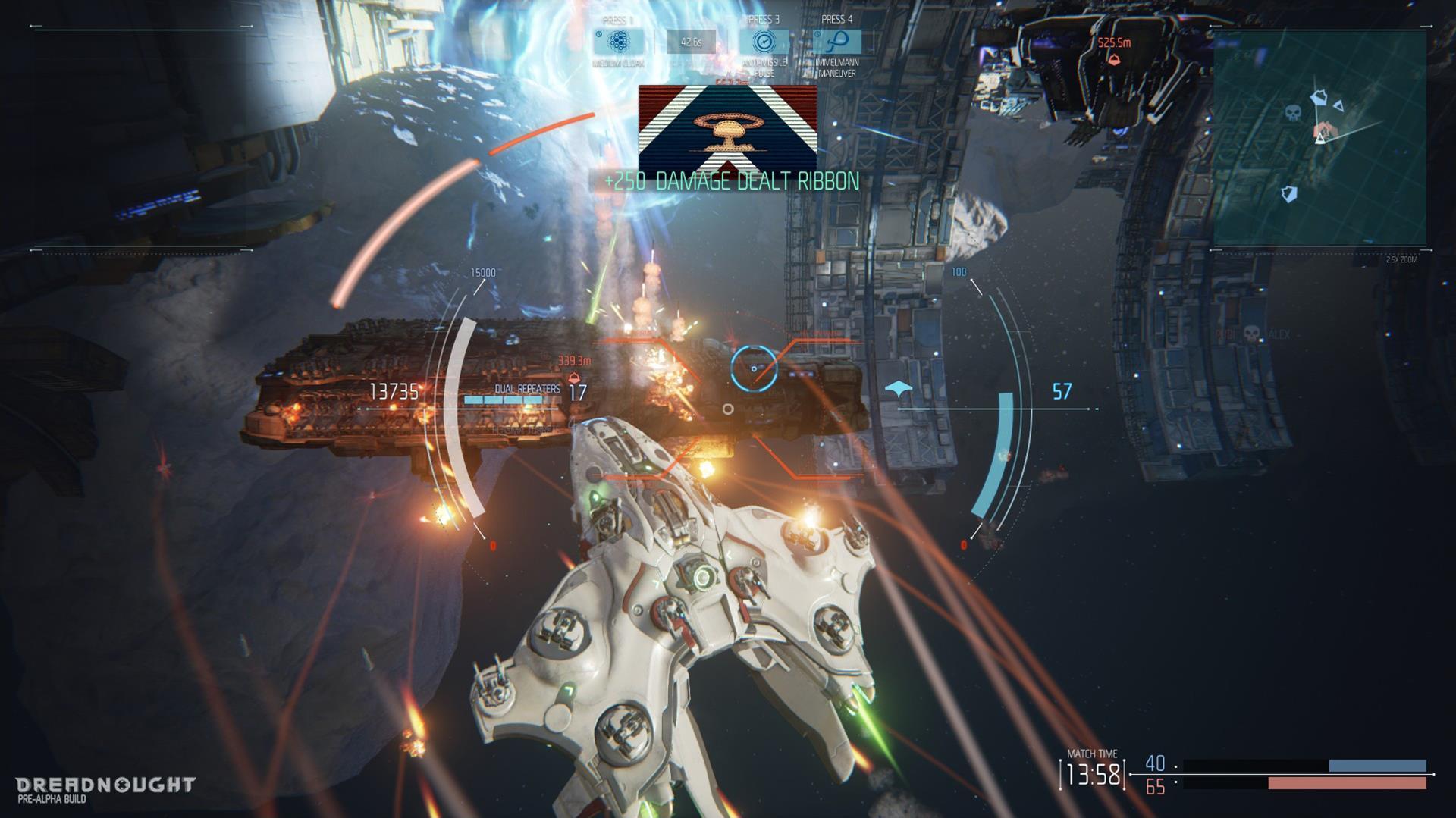 Lasery a výbuchy z taktické akce Dreadnought 106806