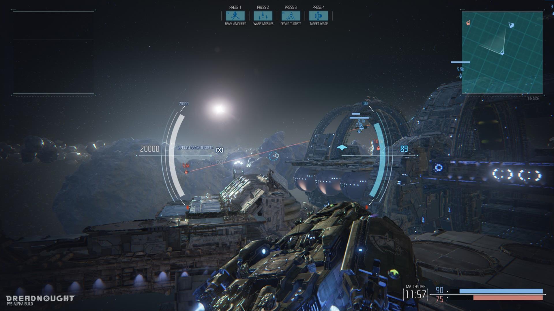 Lasery a výbuchy z taktické akce Dreadnought 106807