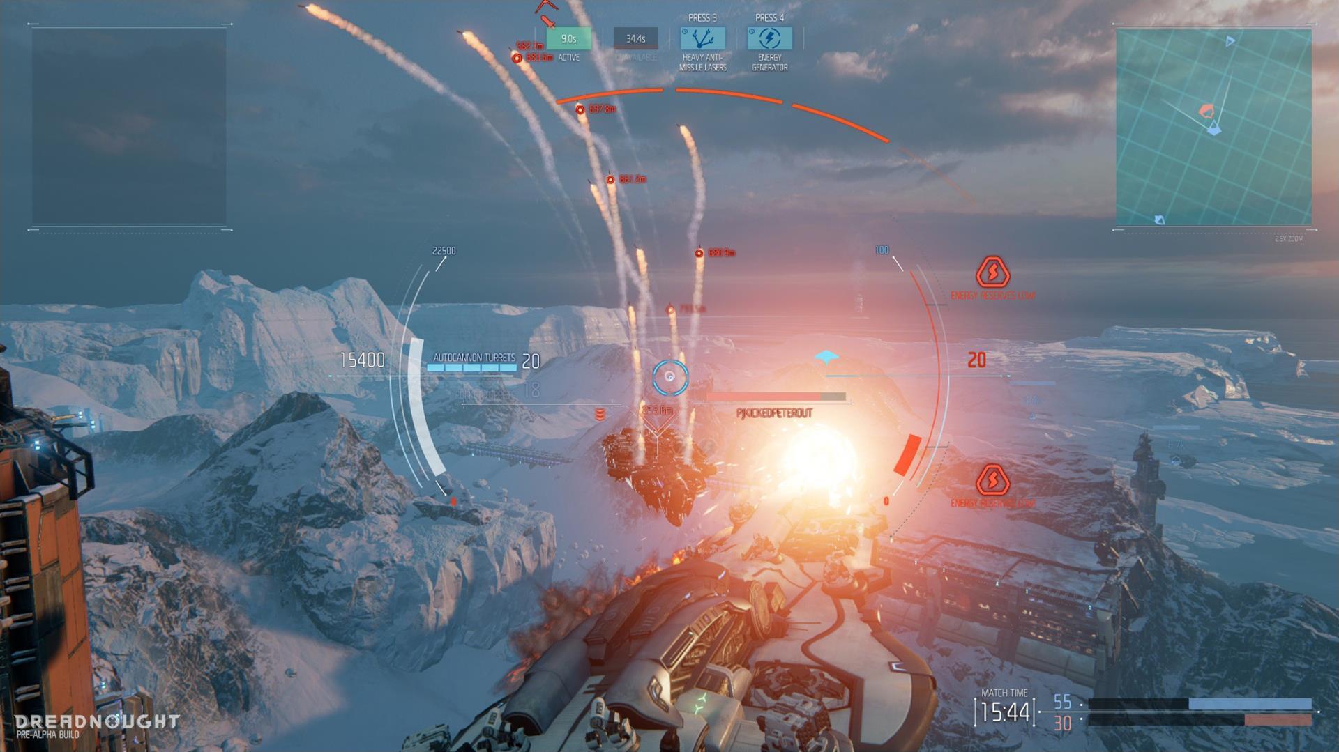Lasery a výbuchy z taktické akce Dreadnought 106808