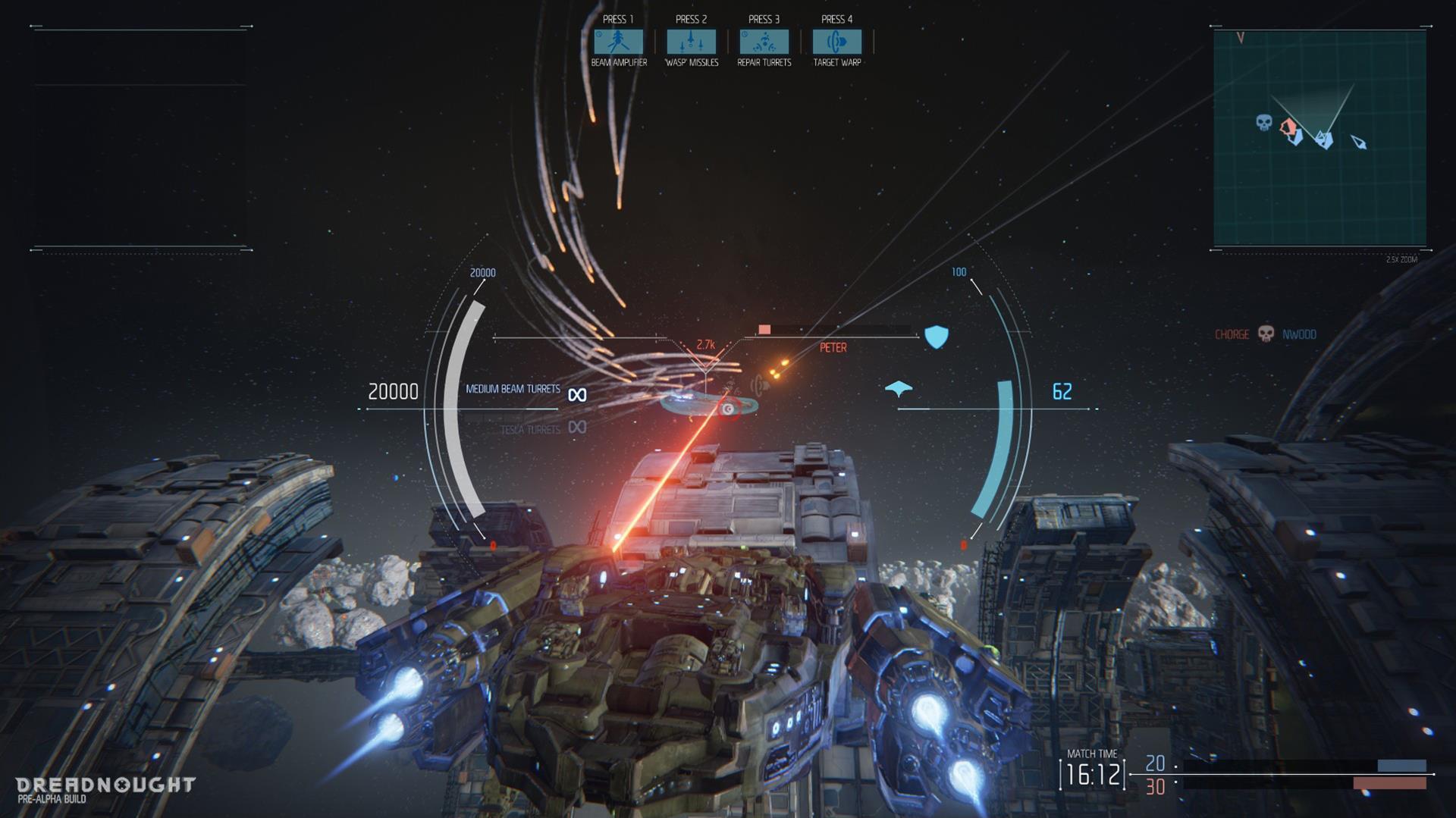 Lasery a výbuchy z taktické akce Dreadnought 106809