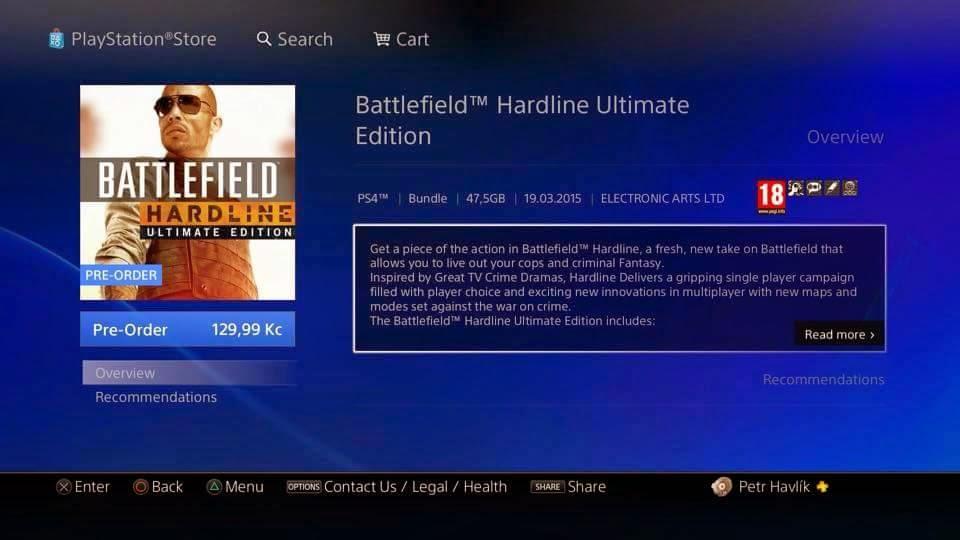 Hráči využili chyby na PSN a předobjednali Battlefield Hardline za 130 Kč. Sony objednávky stornovala 107062