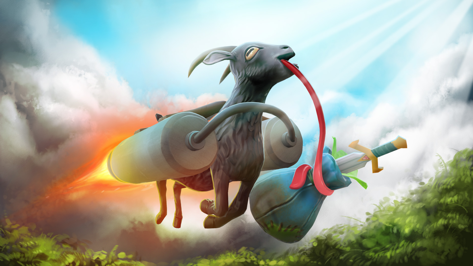 Koza z Goat Simulatoru se snaží prorazit v Dotě 2 107071