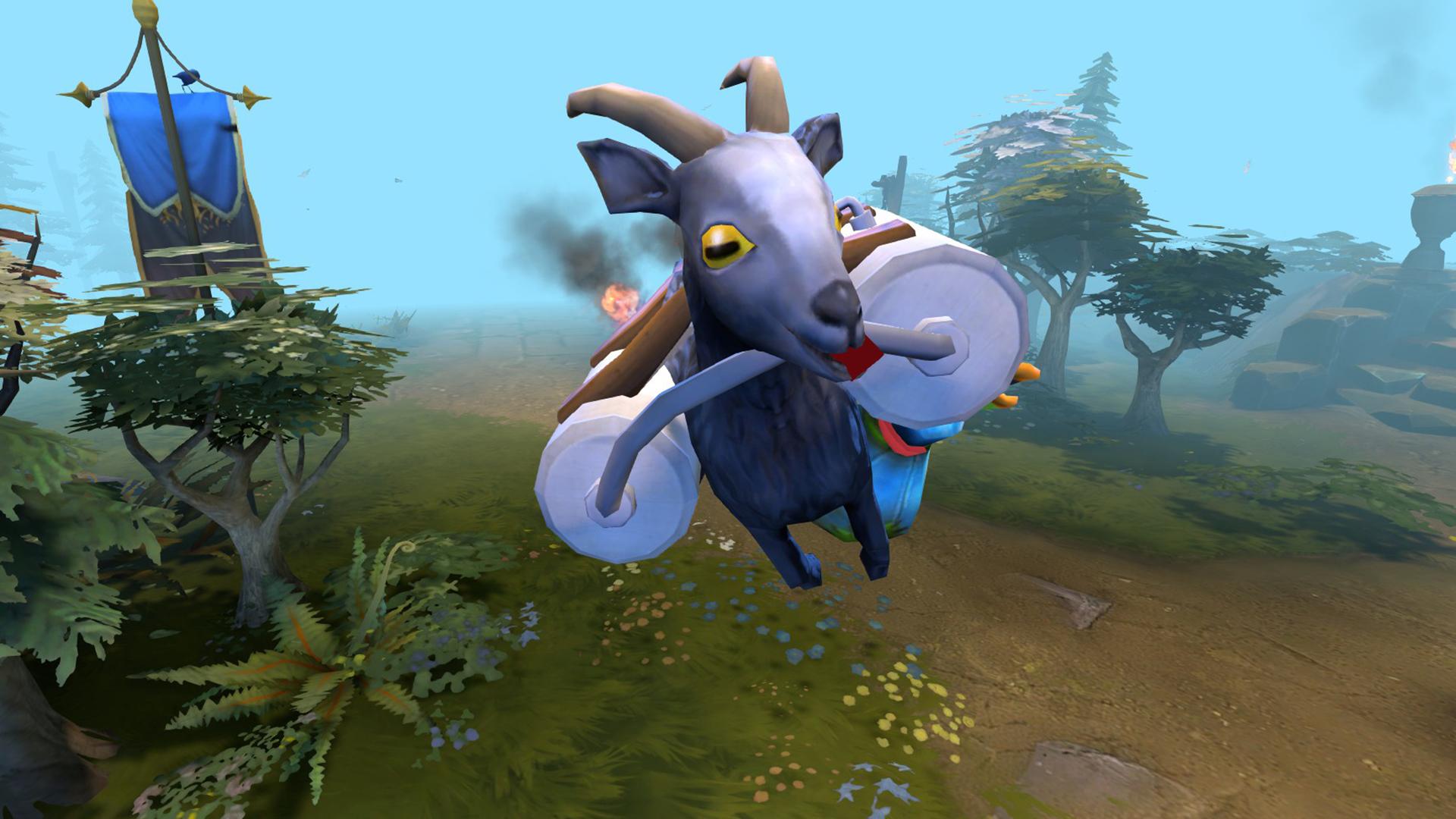 Koza z Goat Simulatoru se snaží prorazit v Dotě 2 107073