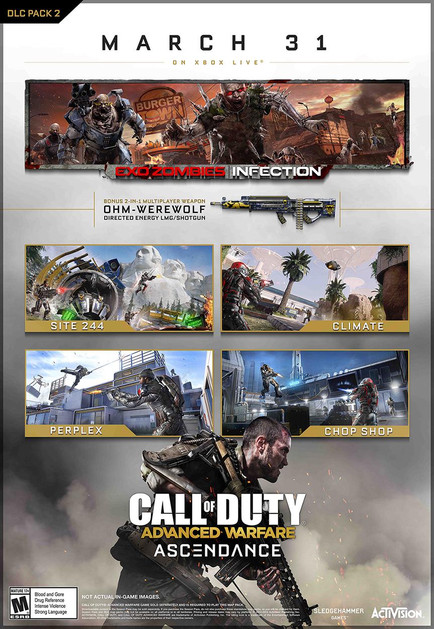 Představeno druhé DLC pro Call of Duty: Advanced Warfare 107116