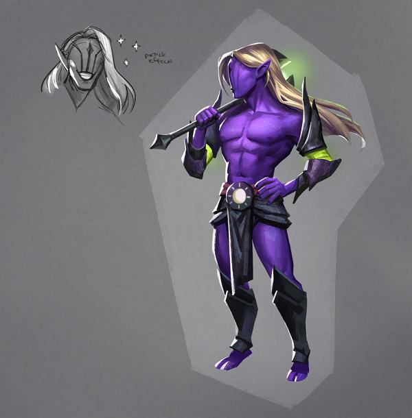 Valve ukazuje šílené koncepty hrdiny Faceless Void z Doty 2 107186