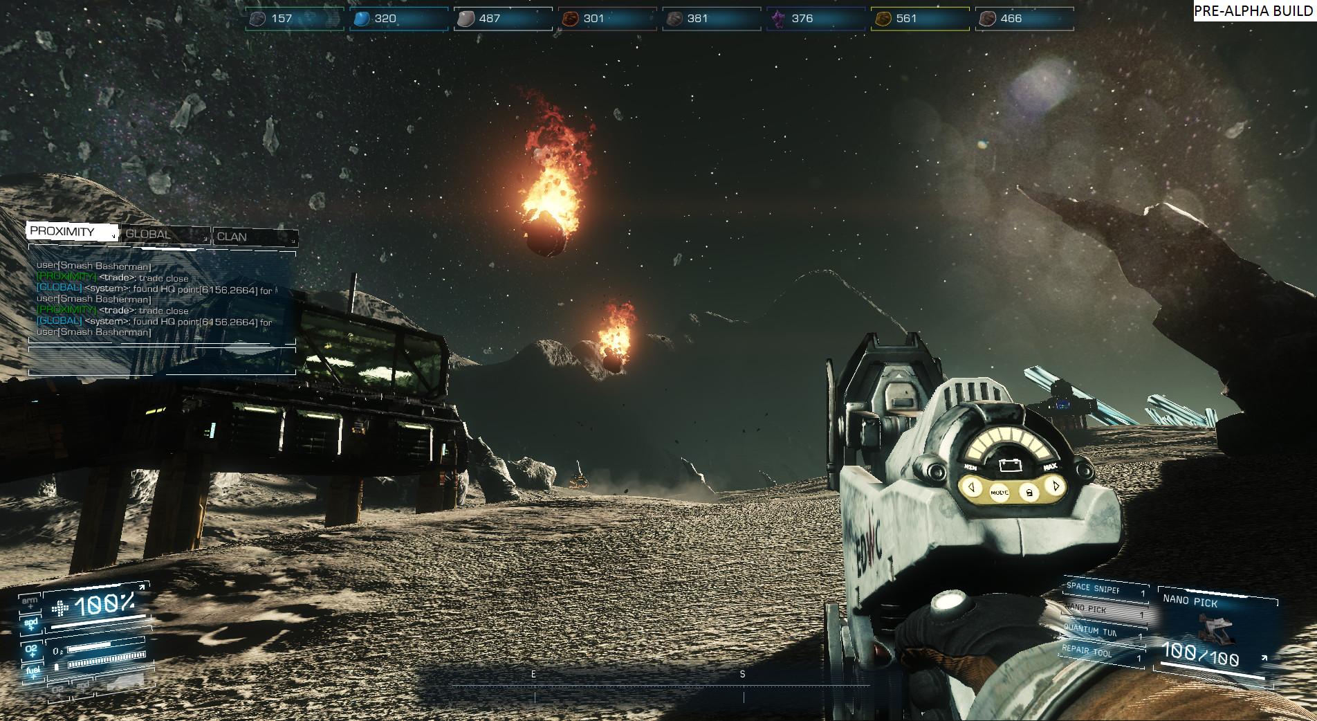 Asteroids: Outpost nově v předběžném přístupu 107391