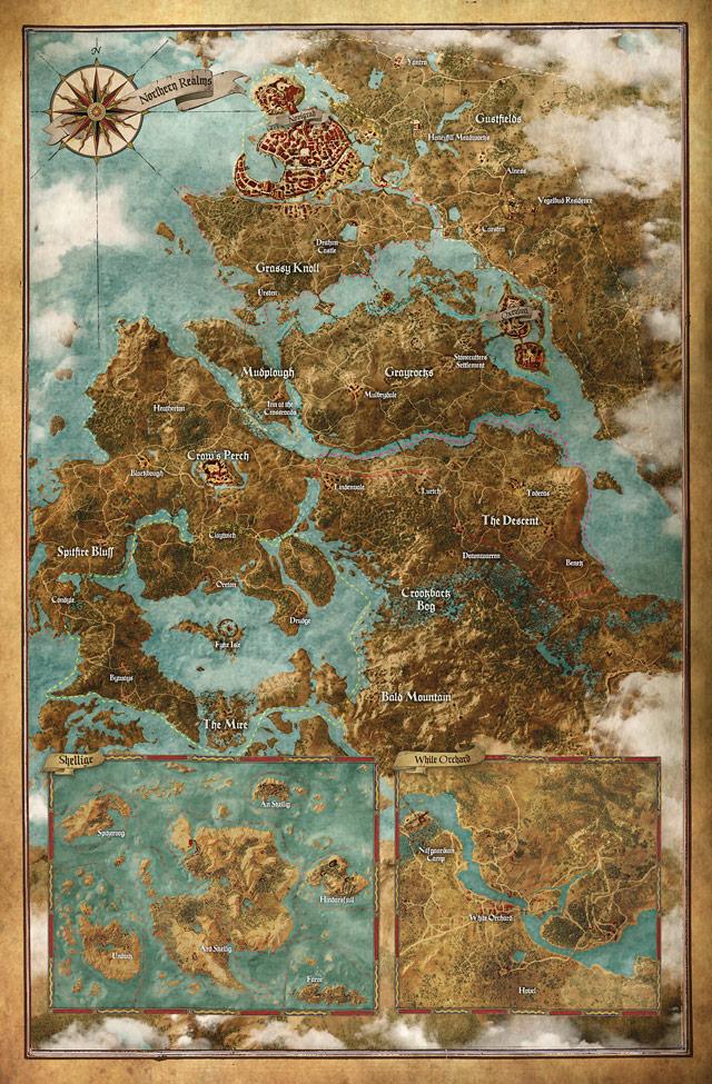 Prohlédněte si mapu herního světa Zaklínače 3 107610