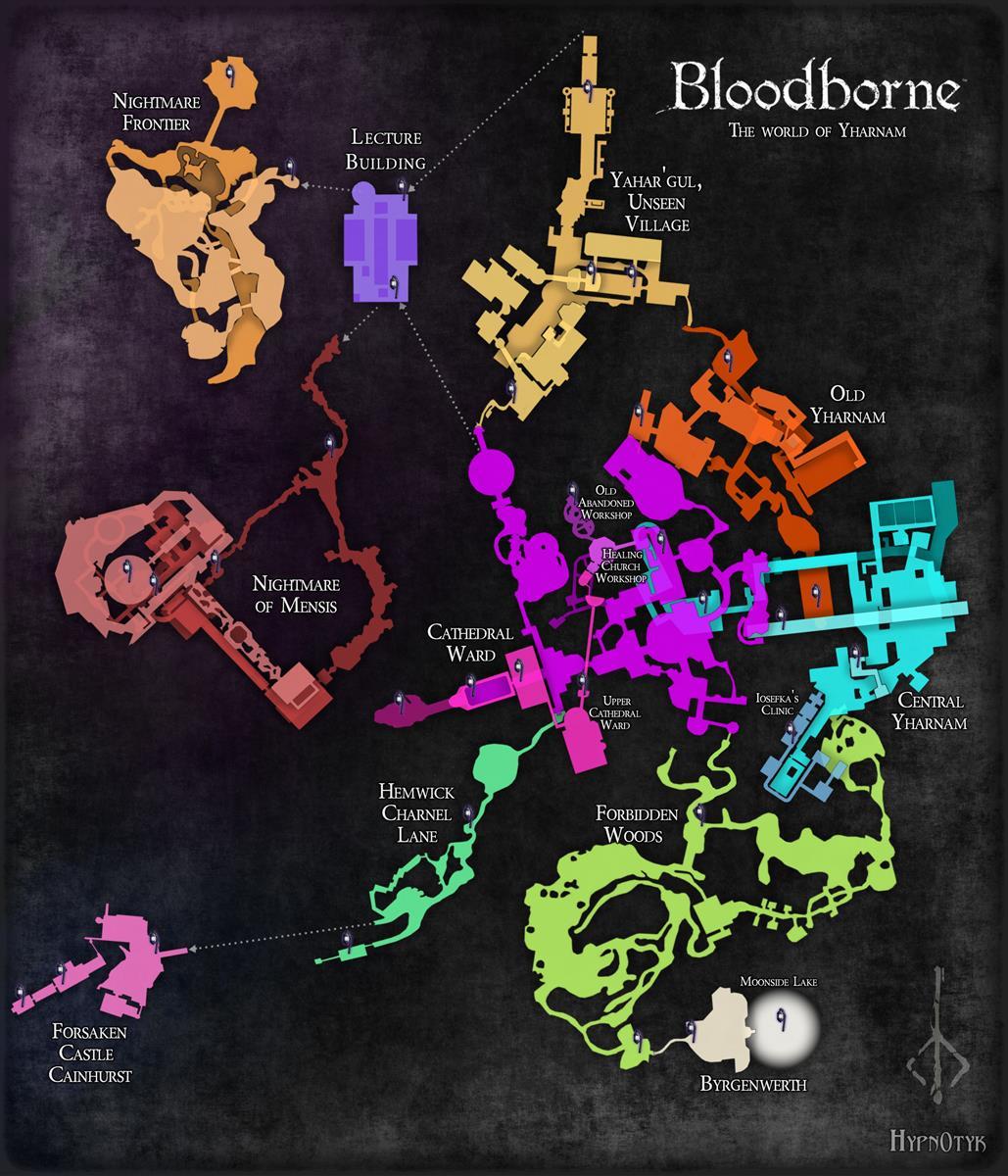 Takhle vypadá kompletní mapa Bloodborne 108534