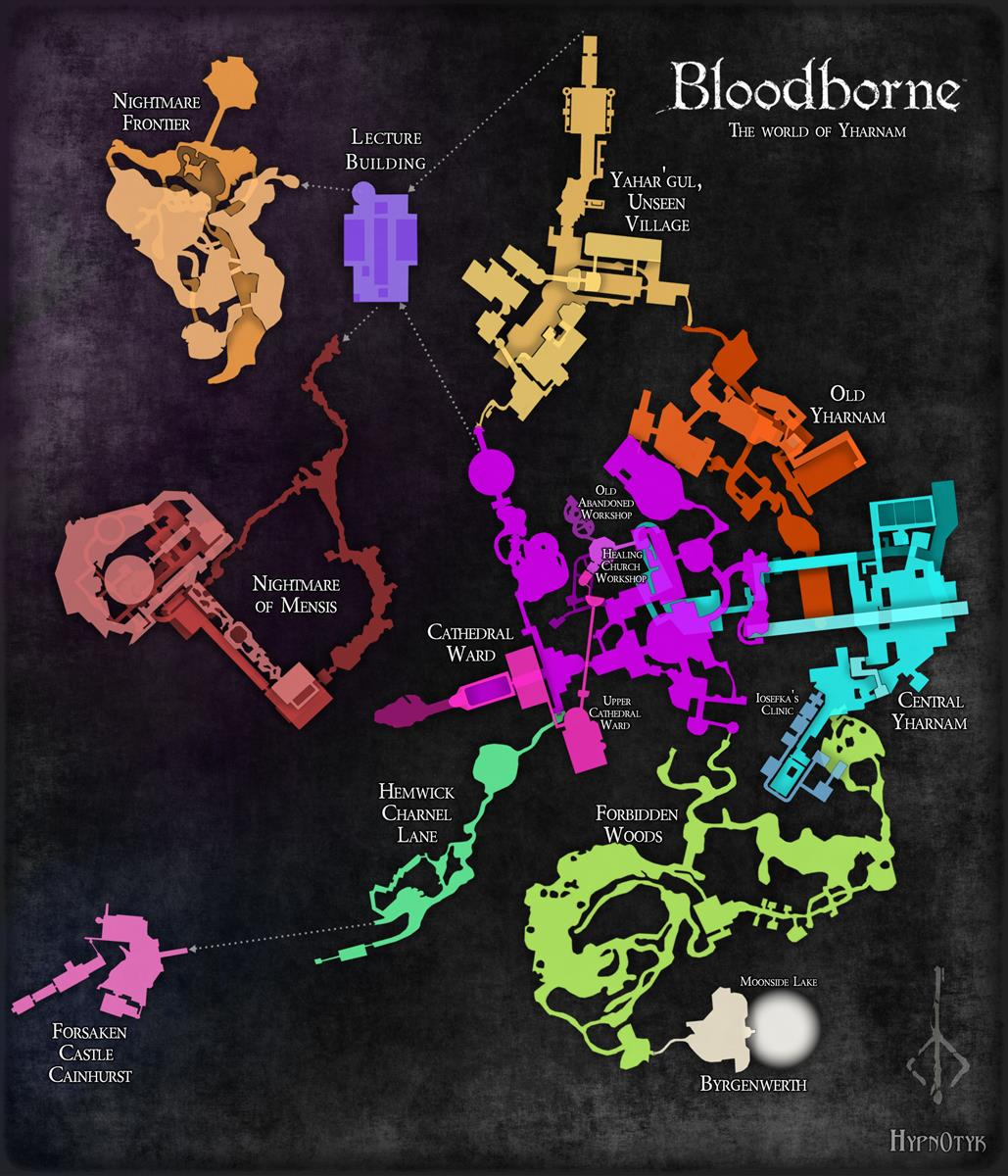 Takhle vypadá kompletní mapa Bloodborne 108535