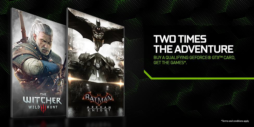 Budete kupovat grafickou kartu? Nvidia nabízí zdarma Zaklínače 3 a nového Batmana 108698