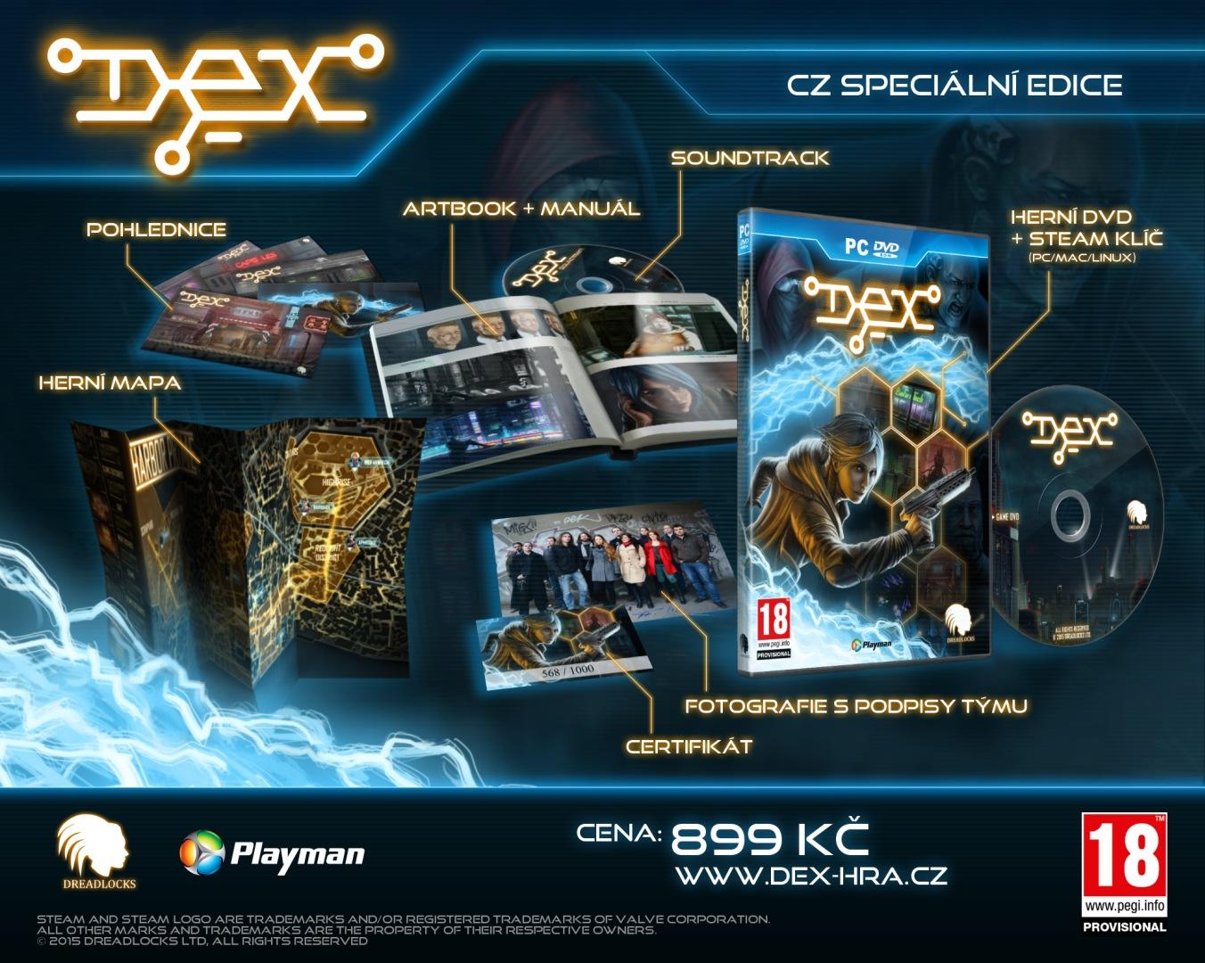 Ohlášeno datum vydání české verze Dex 109341