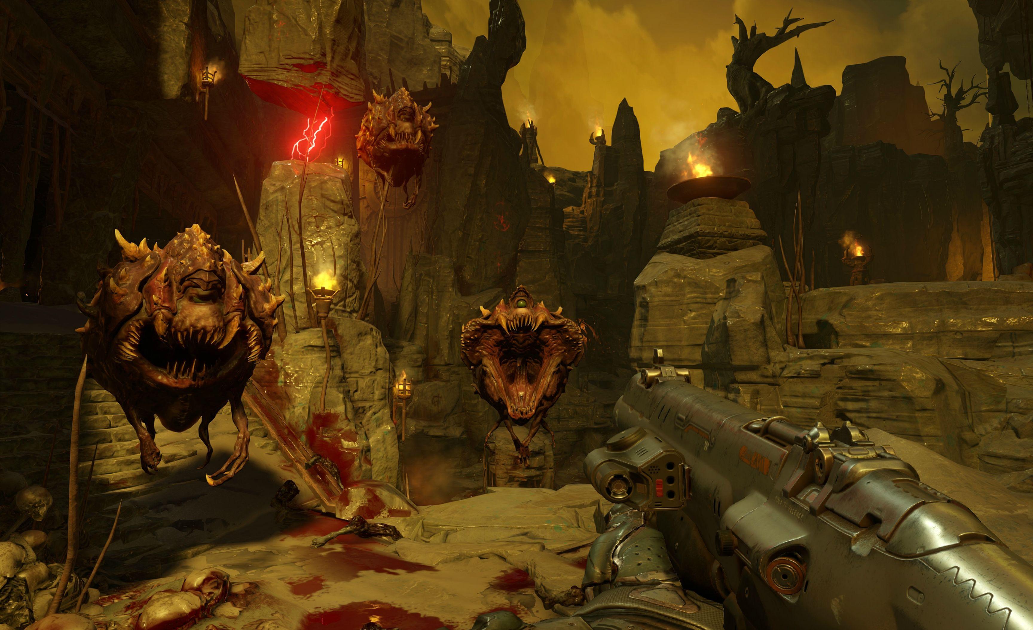 Nový Doom na jaře 2016 s brokovnicí, motorovkou a brutalitou 110120