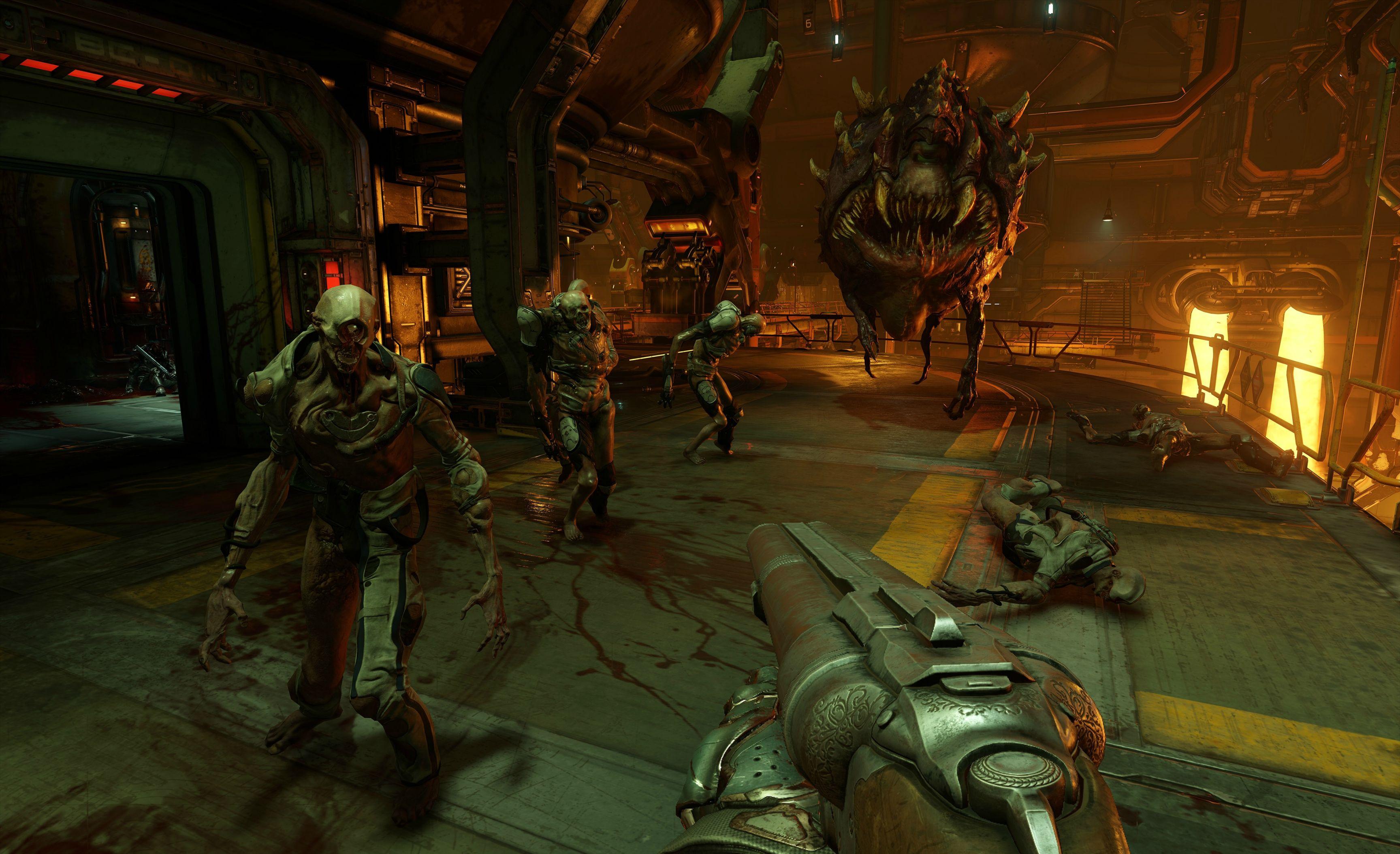Nový Doom na jaře 2016 s brokovnicí, motorovkou a brutalitou 110125