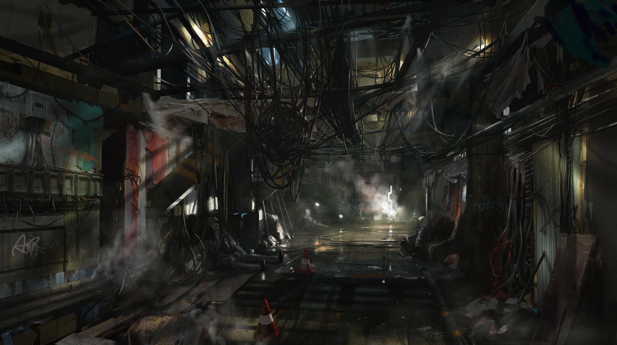Artwork pražské ulice a další drobky z Deus Ex: Mankind Divided 110704