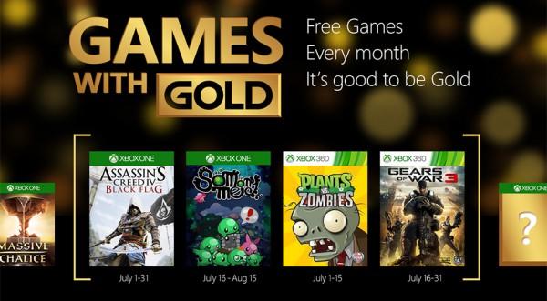Červencové hry zdarma s Xbox Live Gold 110858