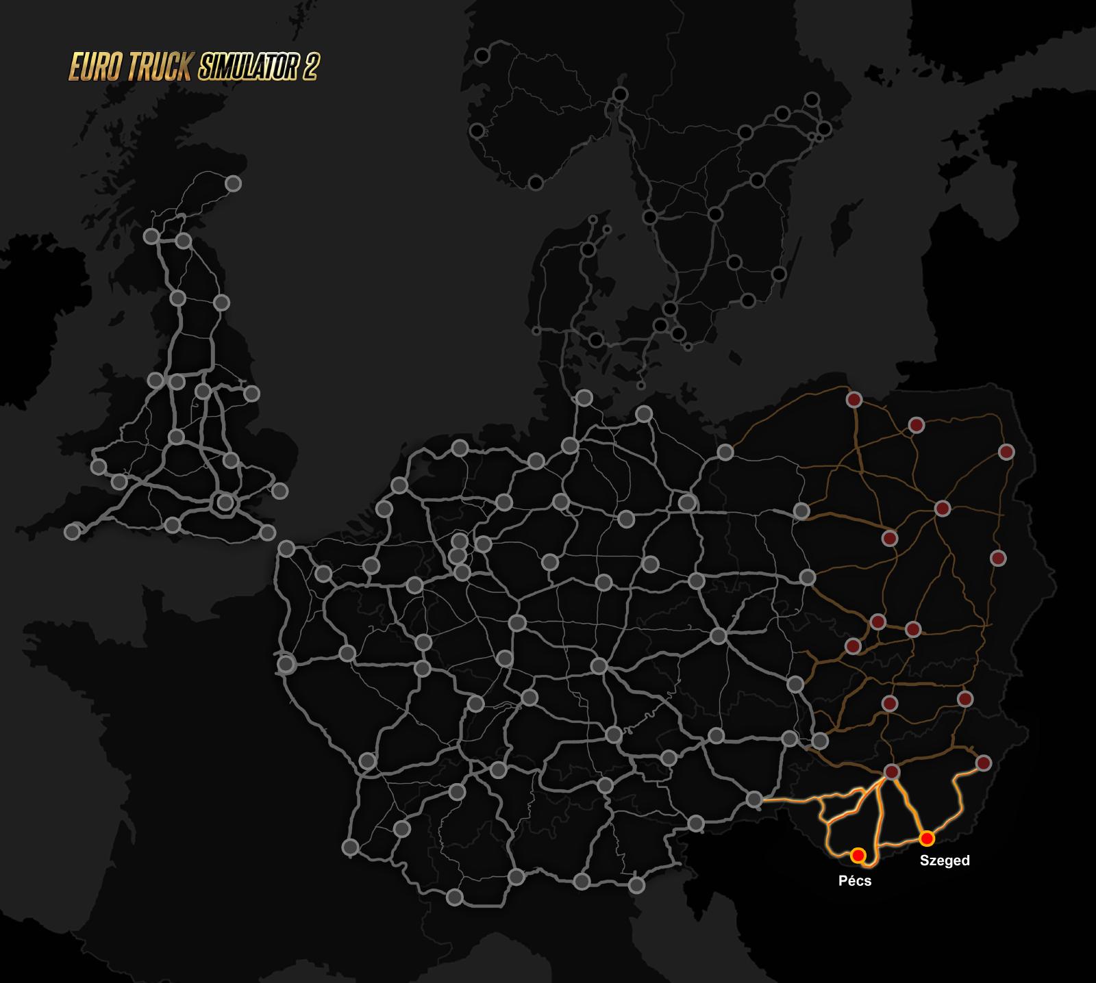 Dvě maďarská města rozšíří Euro Truck Simulator 2 111100