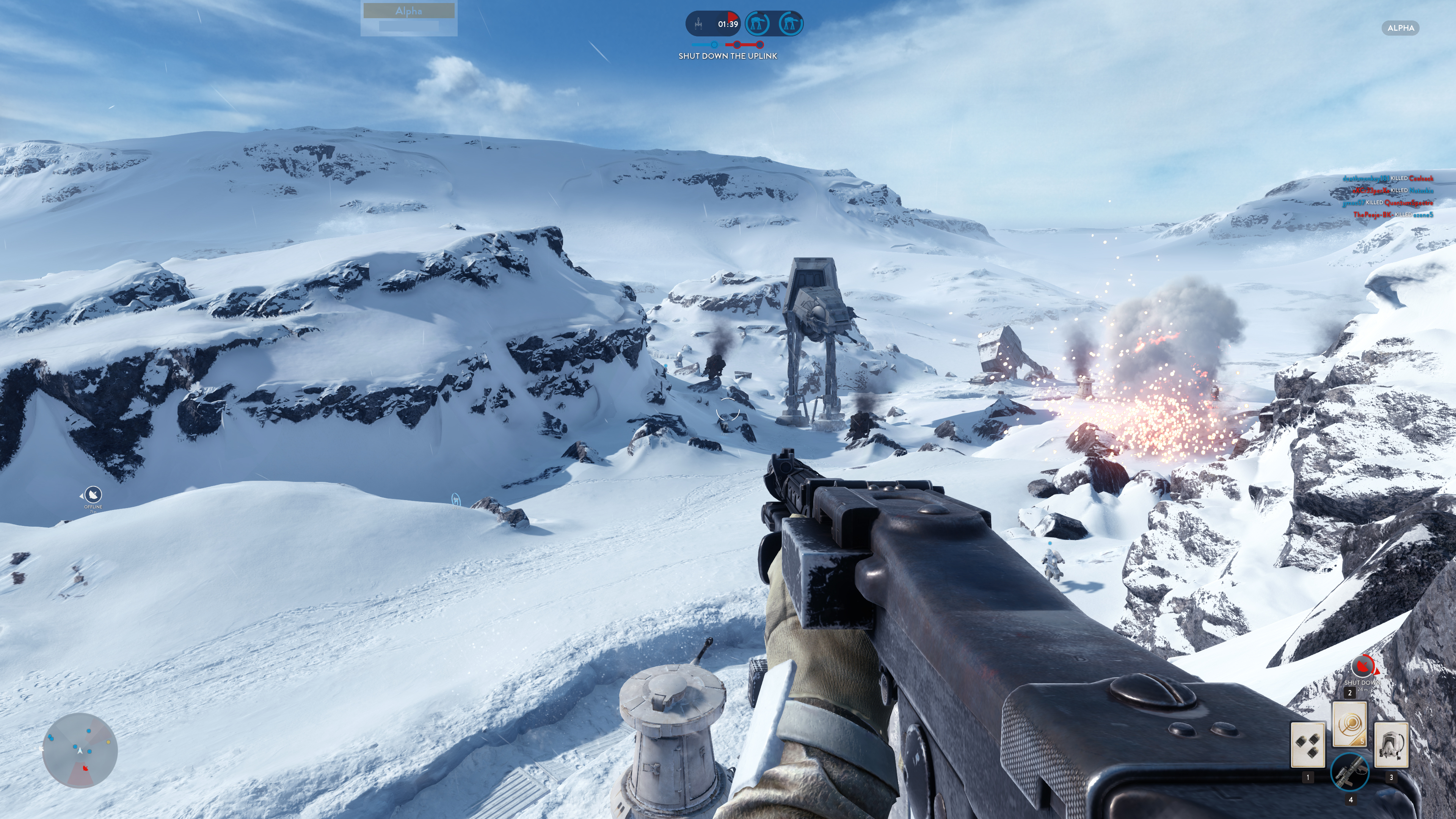 Obrazem: Boj na planetě Hoth ze Star Wars: Battlefront 111222