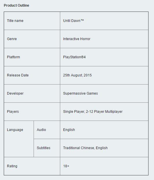 Until Dawn nebude mít multiplayer pro 2 až 12 hráčů 111231