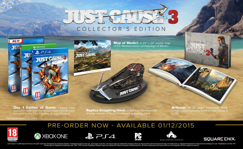 Sběratelská edice Just Cause 3 se pochlubí replikou Ricova háku 111370