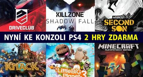 Kupte si PlayStation 4 a vyberte si dvě plné hry zdarma 111592