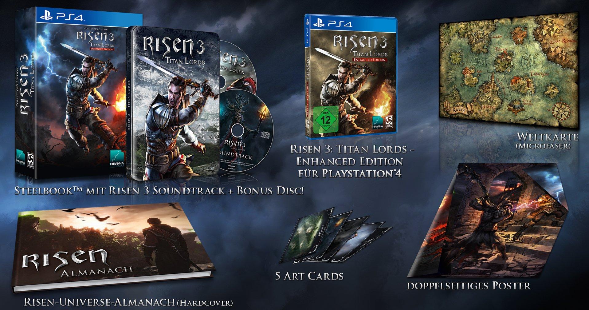 Sběratelská edice pro vylepšenou PS4 verzi Risen 3 112305
