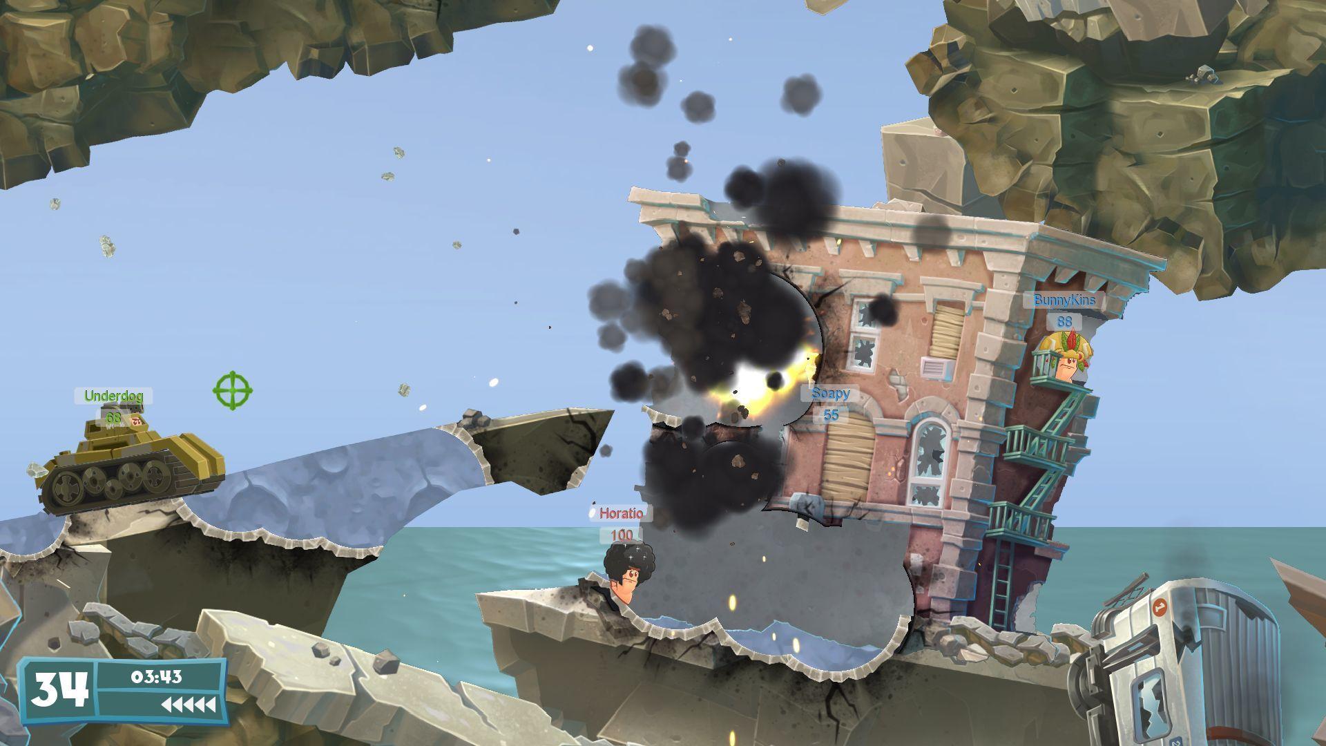 Tanky a budovy lákadlem Worms WMD 112328