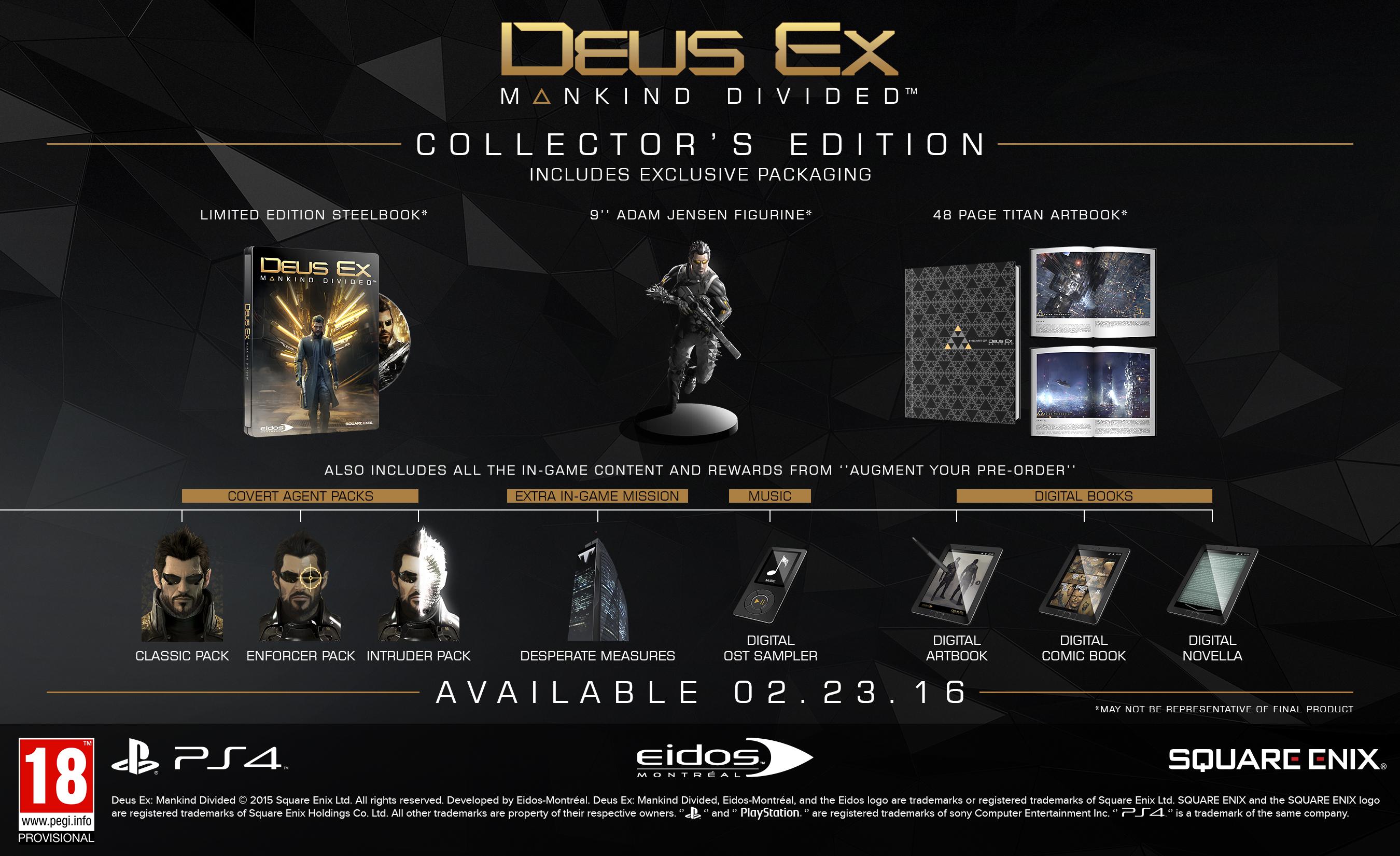 Kolik bude stát sběratelská edice Deus Ex: Mankind Divided? 113450